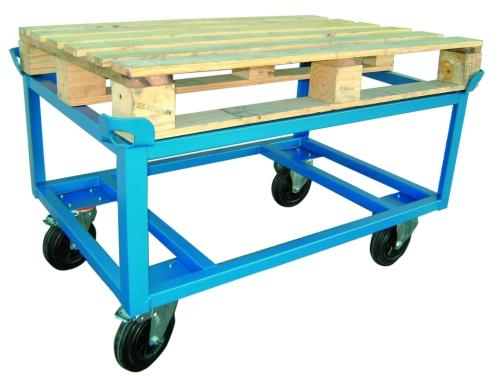 photo du produit chariot porte palettes hauteur 650m roues bandage caoutchouc 5033. Black Bedroom Furniture Sets. Home Design Ideas